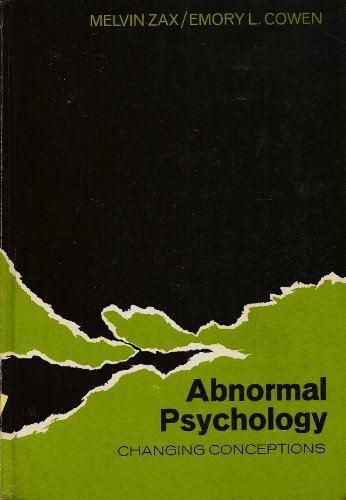 9780030798108: Abnormal Psychology