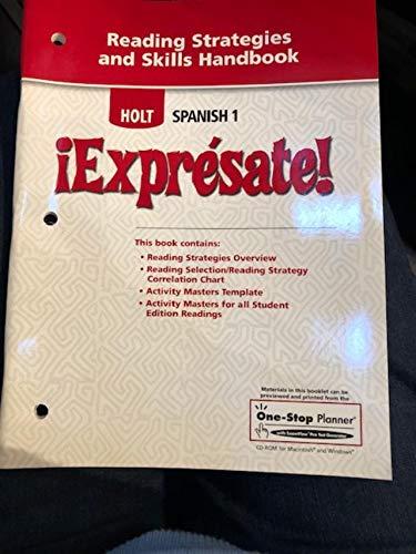 9780030798221: ¡Exprésate!: Reading Strategies and Skills Handbook Level 1
