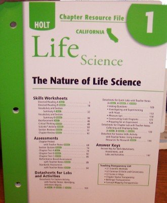 9780030799440: Chapter Resource File California Life Science The Nature of Life Science (Paperback)