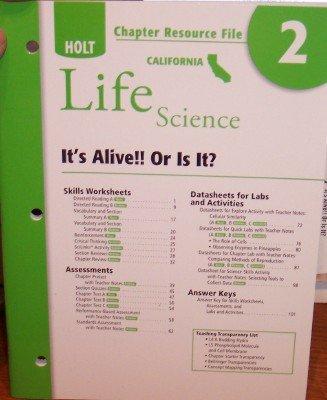 9780030799457: Crf Ch #2 Holt California Sci 2007 Life