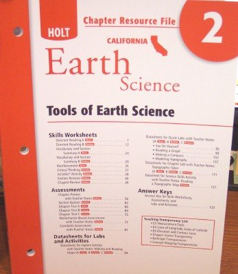 9780030799631: Earth Science Chapter Resource File 2; Tools of Earth Science (California)