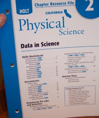 Holt Science & Technology California: Chapter Resource: HOLT, RINEHART AND
