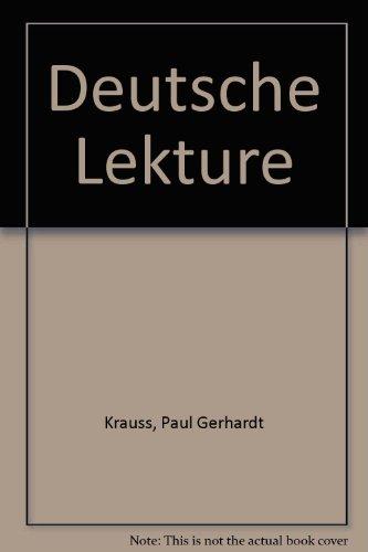 9780030800757: Deutsche Lekture (German Edition)