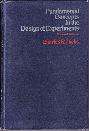 9780030801327: Fundamental Concepts in the Design of Experiments