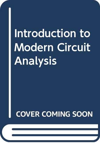 9780030802690: Introduction to Modern Circuit Analysis