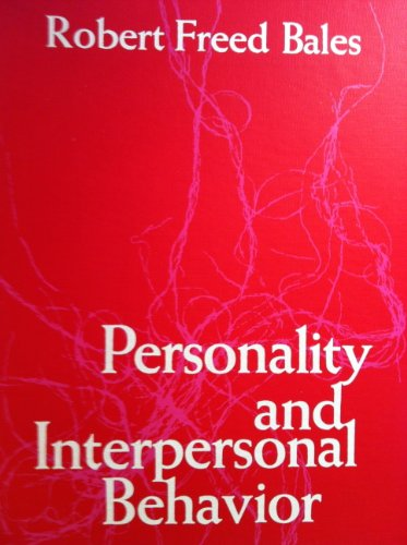 9780030804502: Personality and Interpersonal Behaviour
