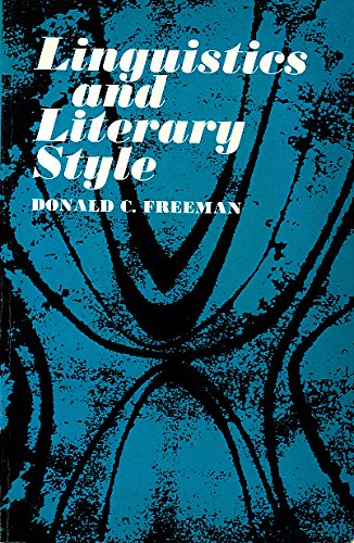 9780030808005: Linguistics and Literary Style.