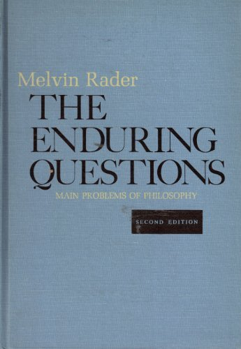 9780030809767: The enduring questions;: Main problems of philosophy