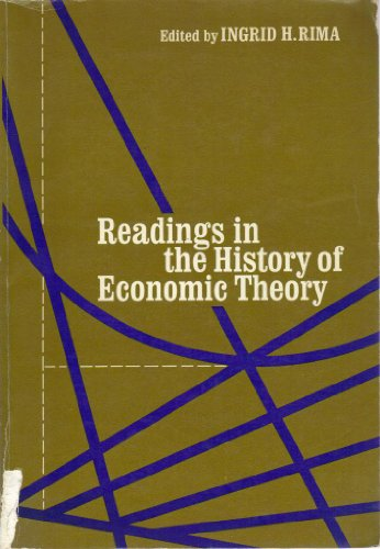 9780030810022: Readings in the history of economic theory (Holt, Rinehart and Winston series in economics)