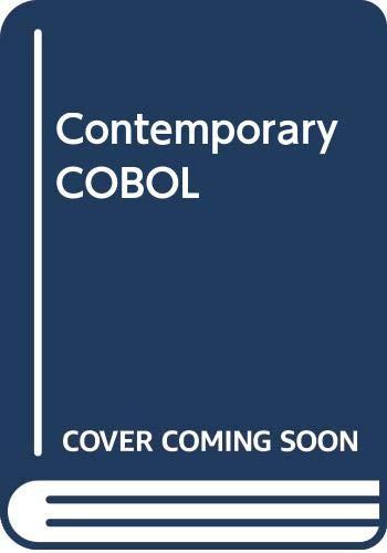 9780030812231: Contemporary COBOL