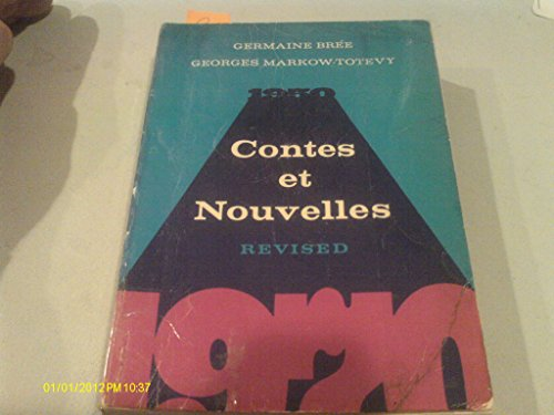 Contes Et Nouvelles, 1950-1970 (French Edition) (0030813441) by Germaine Bree