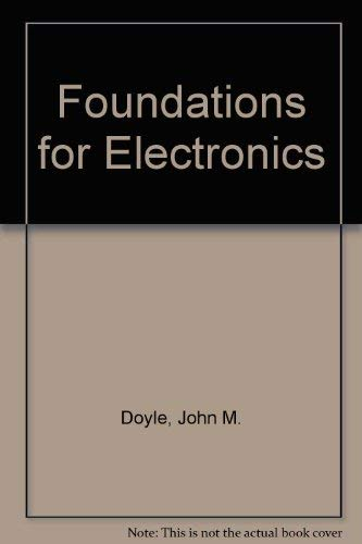9780030813856: Foundations for Electronics
