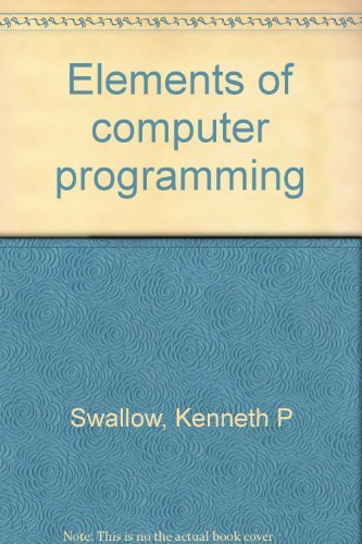 9780030814761: Elements of computer programming