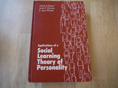 9780030831836: Applications of a social learning theory of personality