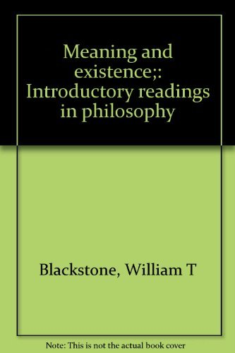 9780030832543: Meaning and existence;: Introductory readings in philosophy