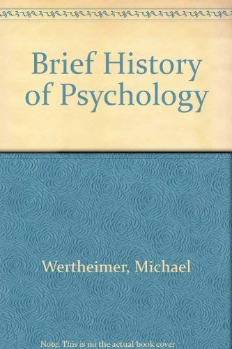 9780030832772: Brief History of Psychology