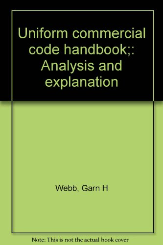 9780030833854: Uniform commercial code handbook;: Analysis and explanation