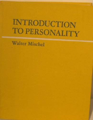 9780030845666: Introduction to Personality