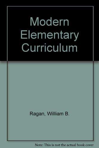 9780030846915: Modern Elementary Curriculum