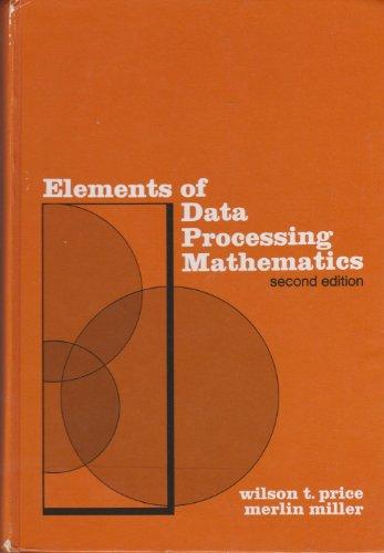 9780030847455: Elements of Data Processing Mathematics