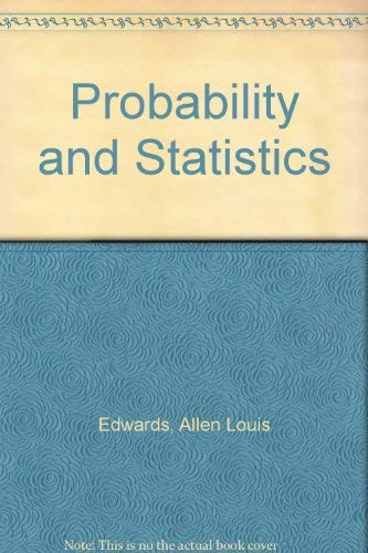 9780030848582: Probability and Statistics
