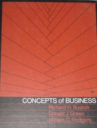 9780030850028: Concepts of Business
