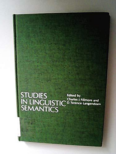 9780030852671: Studies in Linguistic Semantics
