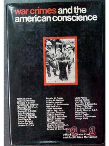 9780030853296: War Crimes and the American Conscience.