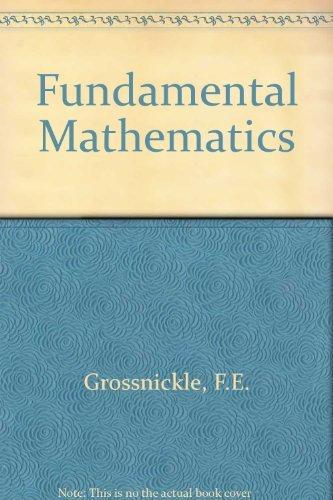 9780030853937: Fundamental Mathematics