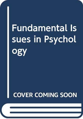 9780030854873: Fundamental Issues in Psychology.