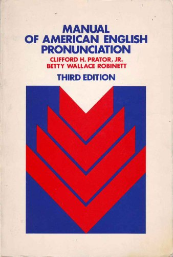 9780030856419: Manual of American English Pronunciation