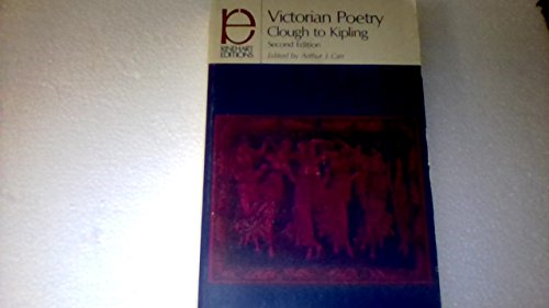9780030856556: Victorian poetry: Clough to Kipling (Rinehart editions, 96)