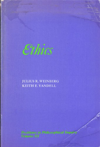 9780030856662: Problems in Philosophical Inquiry: Ethics v. 3