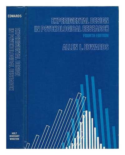 9780030862144: Experimental Design in Psychological Research