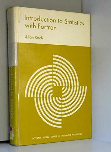 9780030863929: Introduction to Statistics with Fortran (International series in decision processes)