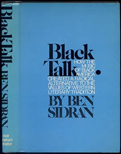 9780030865794: Title: Black talk