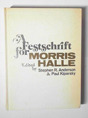 9780030865954: Festschrift for Morris Halle