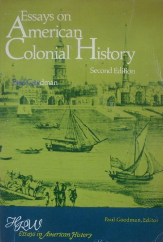 9780030866142: Essays on American Colonial History (HRW essays in American history)