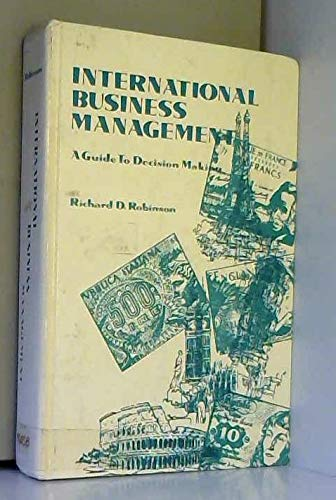 9780030866982: International Business Management: A Guide to Decision Making (Holt, Rinehart and Winston international business series)