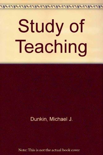 9780030880995: Study of Teaching