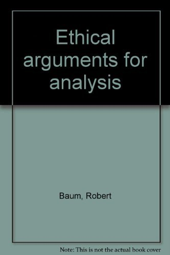 9780030881602: Ethical arguments for analysis