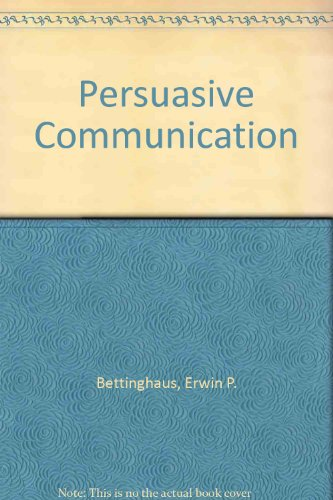 9780030884757: Persuasive Communication