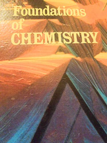9780030884849: Foundations of Chemistry