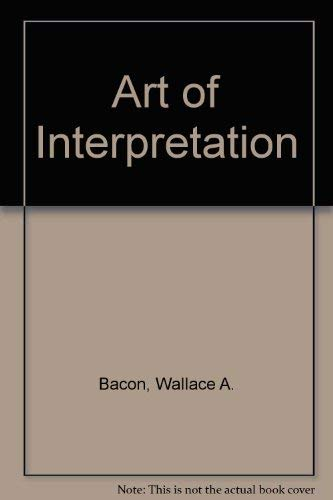 9780030889998: The Art of Interpretation