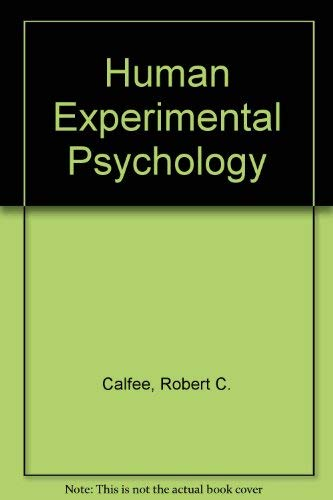 9780030890215: Human Experimental Psychology