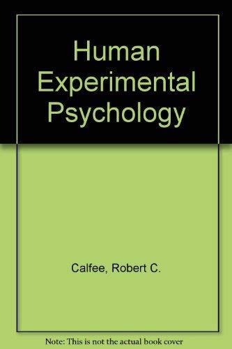 9780030890215: Human Experimental Psychology