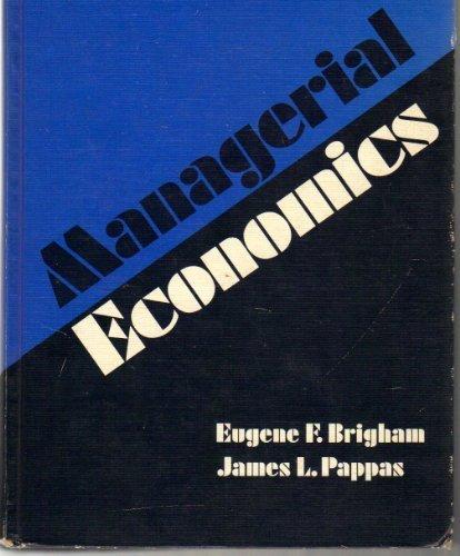 9780030890314: Managerial Economics