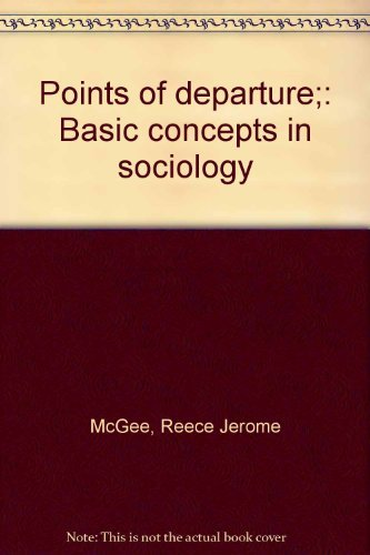 9780030890383: Points of departure;: Basic concepts in sociology