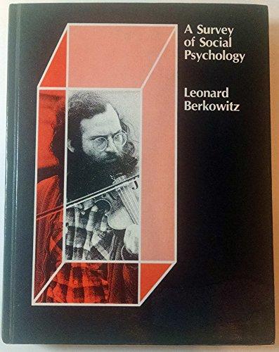 9780030890734: Survey of Social Psychology