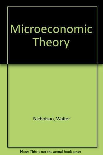 9780030890949: Microeconomic Theory